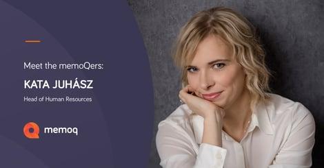 Katalin Juhász - head of hr at memoQ